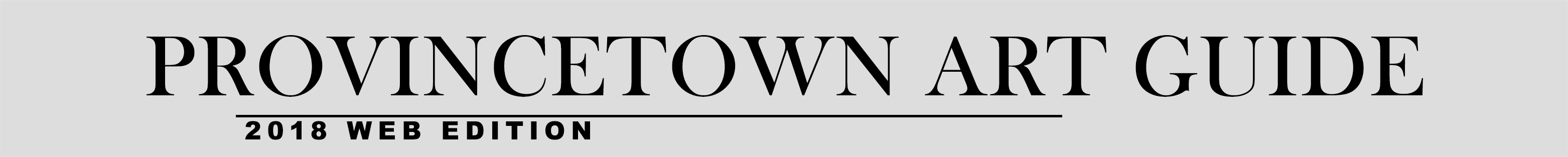 Provincetown Art Guide 2018 web edition header image with link to home page
